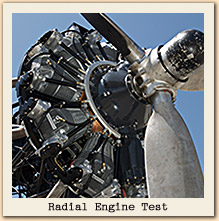 Radial Engine Test